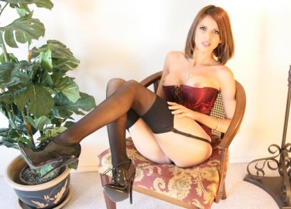 Alta Heels babes - Shy Love Stockings, high Heels, Corset
