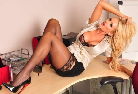 Hot playbol model Lucy Zara newest pictures: High heel secretary