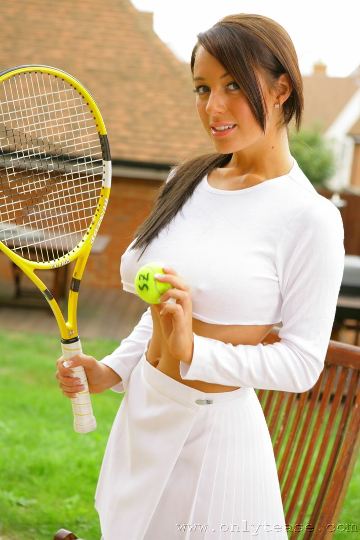 Babe only tease tennis