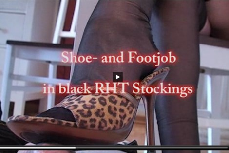 Sophia Million video – Shoejob and Black RHT Stockings Footjob