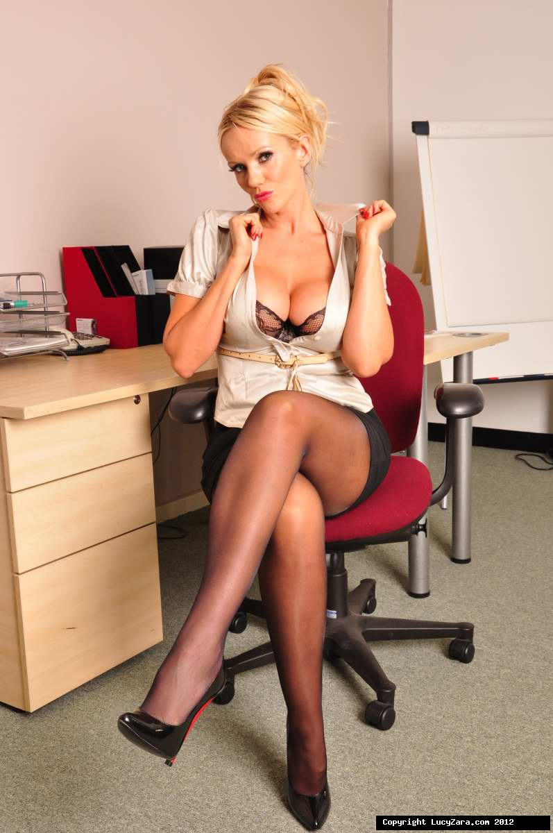 Woman office cougar pantyhose