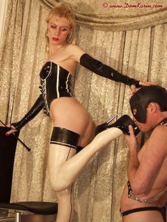 Latex stockings pictures – female domination – Karin von Kroft