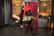 Ebony mistress Ava Black video: pantyhose facesitting & milking machine