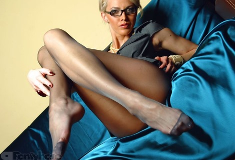 Black sheer pantyhose video