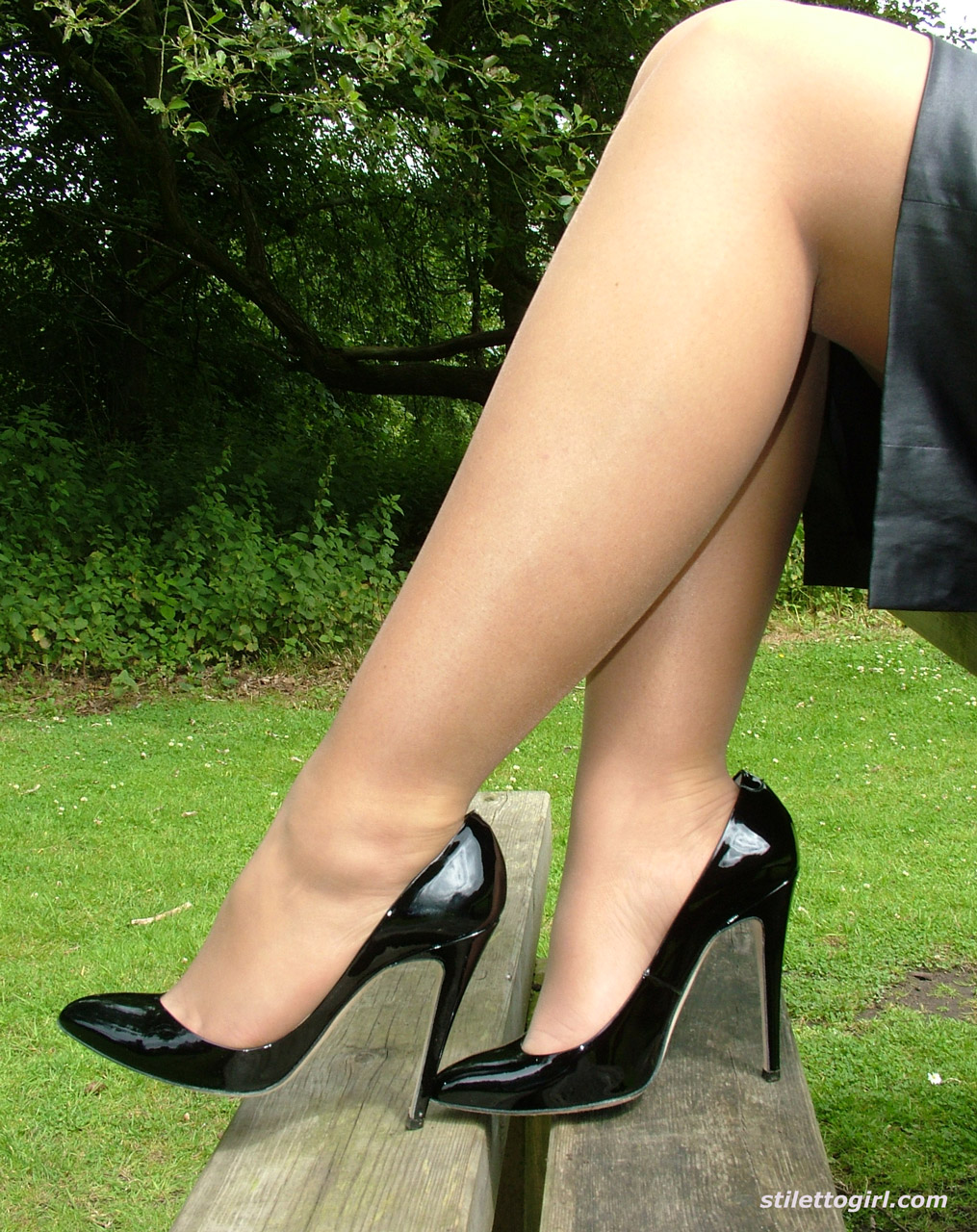 Think, Stiletto girls legs visible, not