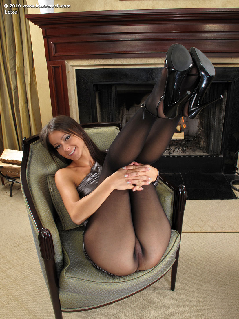 Milf pantyhose pussy see through