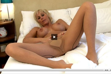 Jan Burton video - pantyhose tease wolfords naked mature sexy