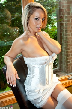young girl in white stockings and corset nikki sims pictures
