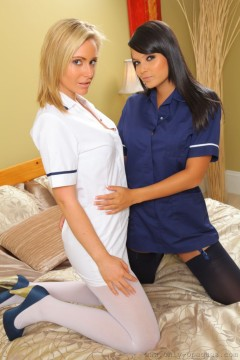 hot nurses in stockings and pantyhose