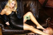 Mistress nylon feet worship video
