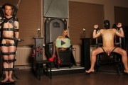 Natalie Black video – femdom with two slaves