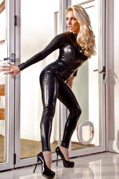 Big tits lady in latex catsuit Dannii Harwood
