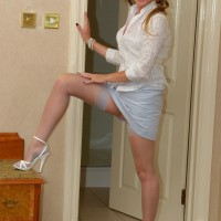 Satin Jayde free picture galleries – Corset & Nylon stockings
