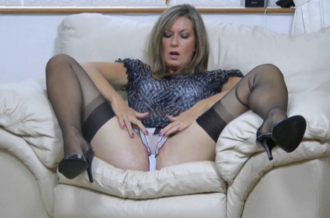 Amateur nylon wife video Satin Jayde rubs her pussy satin sheer panties upskirt