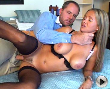 Hot wife Rio videos Amateur fucks in black stockings - face cumshot