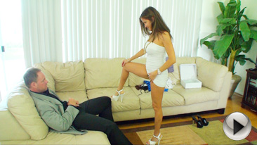 Hot Wife Rio - Escort wife Rio sucks and fucks in tight dress and heels