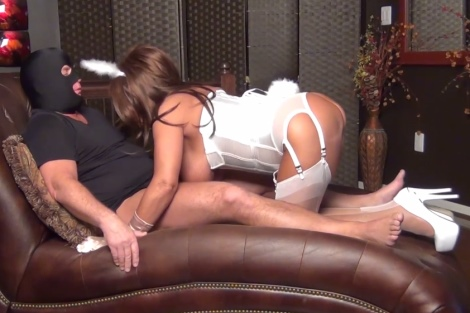 Samantha Legs free video Samantha in white nylons boobjob handjob big tits in action