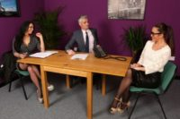 "PureCFNM video ""Keep Focus"" sexy job interview handjobs"