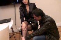 Nylon footjob, legjob & shoejob tube video Fetish Liza