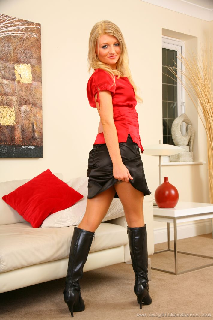 Only silk and satin black skirts