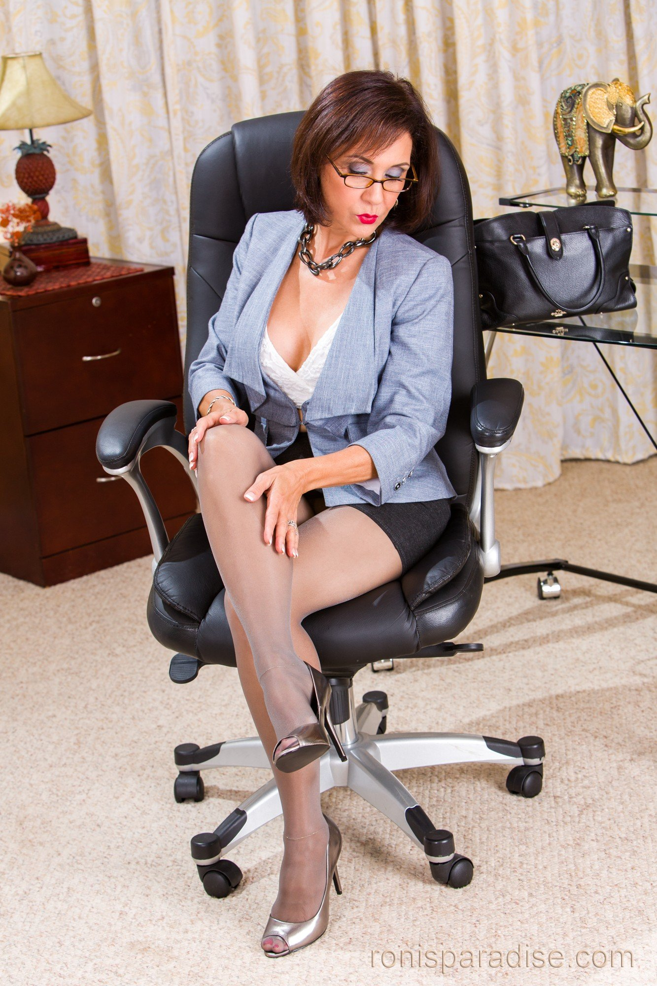Apologise, office pantyhose pics simply excellent
