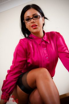 Jasmine Jones hot secretary stockings tease Worship Jasmine Jones