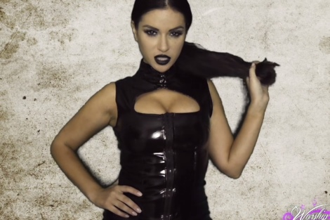 Jasmine Jones hypnotic porn video Hot babe hypnotizing in tight latex dress