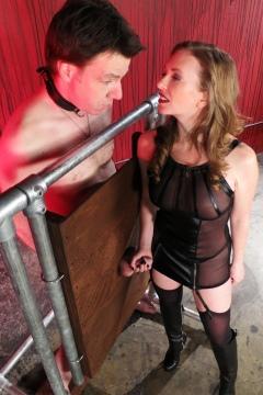 Mistress T milking slave until he cums / MistressT handjob tease Femdom Empire