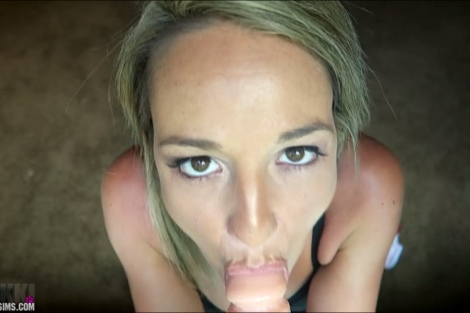 Nikki Sims blowjob video Hot young babe oral cock tease