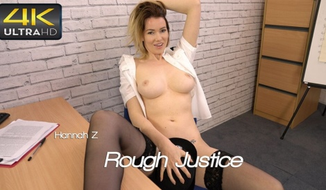Hannah Z rough justice video wankitnow Stockings Tease