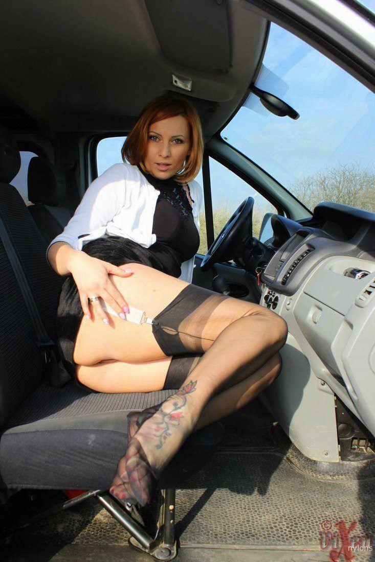 Nylons in car