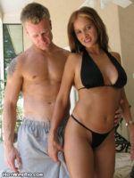 Hot Wife Rio wet sex in bath & pool