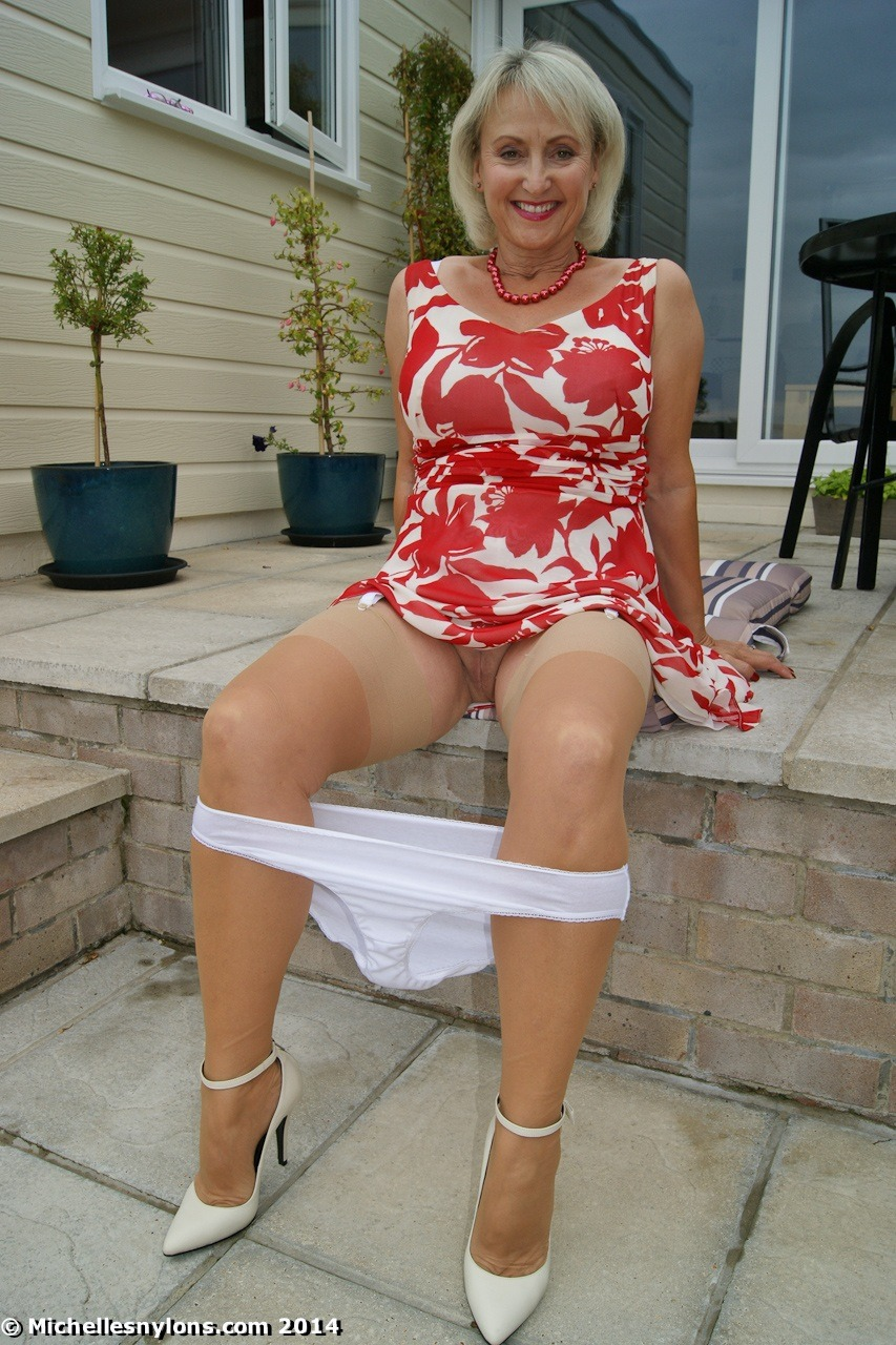 Mature wife in nylons may the