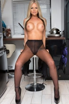 Roxi Lloyd Big tits blonde secretary in black pantyhose Pantyhosed 4 U