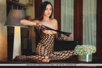Li Moon pics Exotic beautie in pantyhose & nude