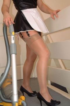 Sabrinas Stockings shiny nylons maid housewife Amateur foot fetish pics