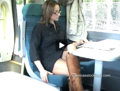 Amateur changing panties in public in train video Sabrinas Stockings