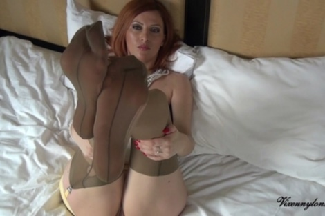 Video redhead wife nude pussy tease, Vixen Nylons soles milf