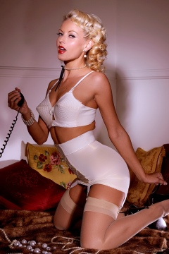 Jana Cova silk stockings hot blonde retro beauty