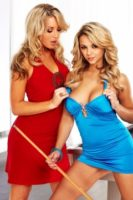 Kayden Kross stockings sex & lesbian tease with Ashlynn Brooke