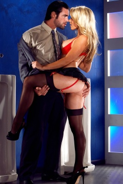 Kayden Kross stockings sex hardcore blonde pornstar fucks a model