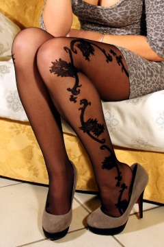 Designer pantyhose sexy black tights womens hosiery
