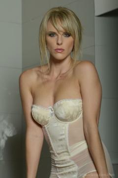 Head mistress Mackiezie shows her body lingerie legs nylons