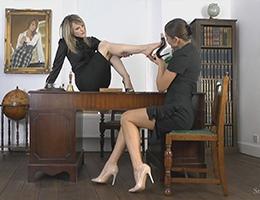 Headmistress Mackenzie videos Matron Kay stiletto heels shoe fetish